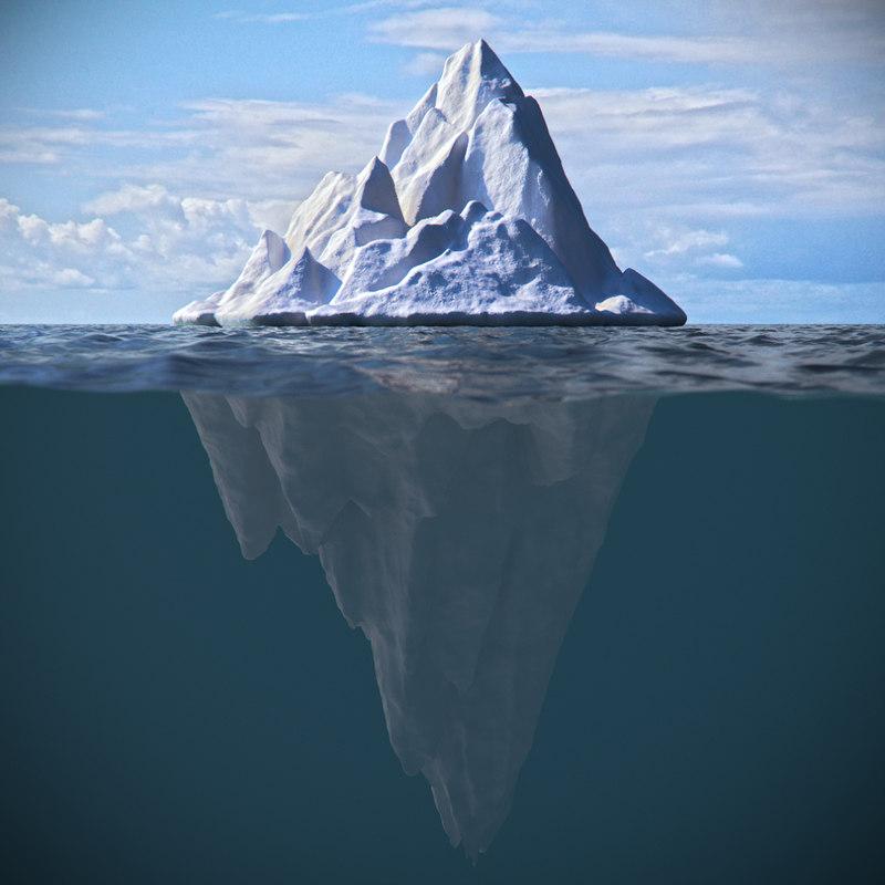 ice iceberg berg 3d max
