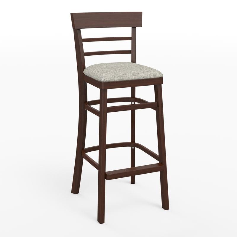 3d model bar stool for Barhocker 3ds