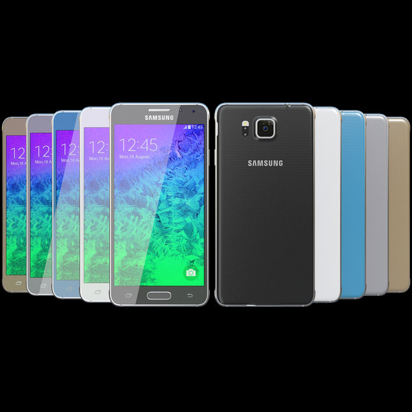 Samsung Galaxy Alpha All Colors Texture Maps