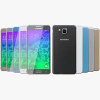 Samsung Galaxy Alpha 3D models