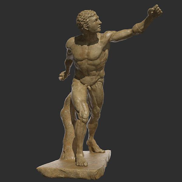 Borghese Gladiator 3D Models