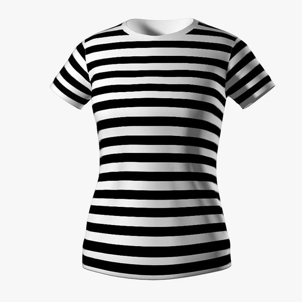 striped-shirt-girl Texture Maps