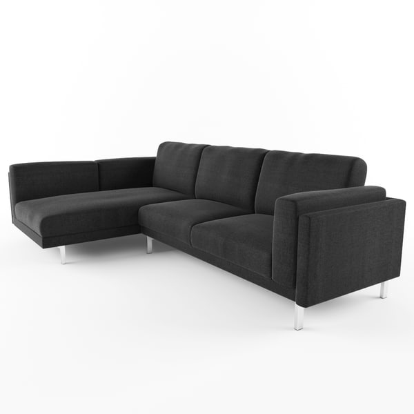 Ikea Nockeby Loveseat with chaise 3D Models