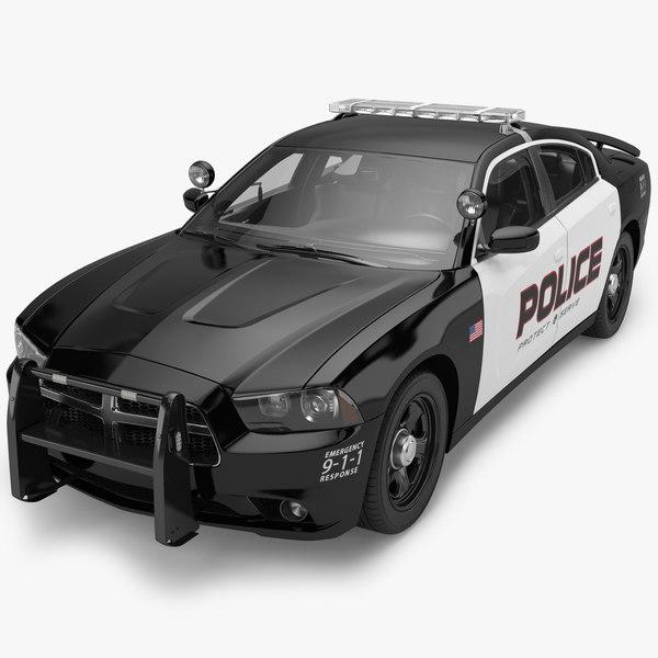 2012 Dodge Charger Police 3D Models