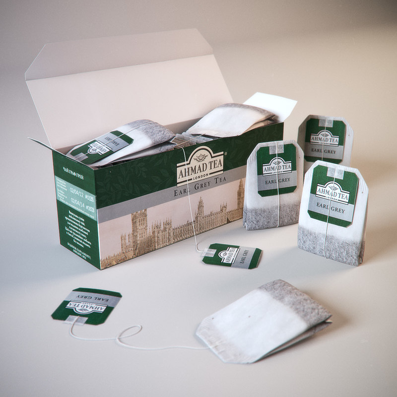 tea box 3d obj