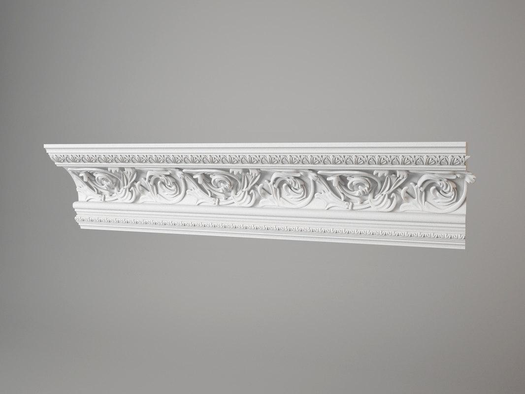torus style carved cornice 459