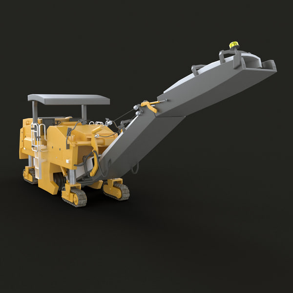 Pavement Milling Machine 3D Models