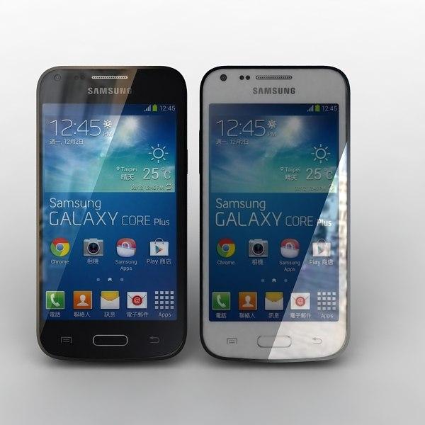 Samsung Galaxy Core Plus Black and White