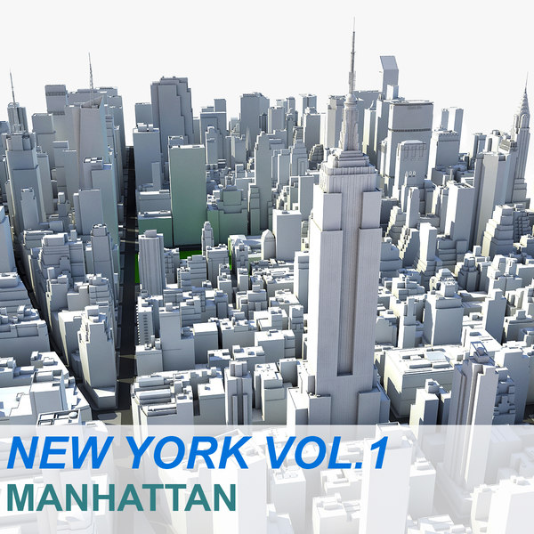New York Manhattan Vol.1 3D Models