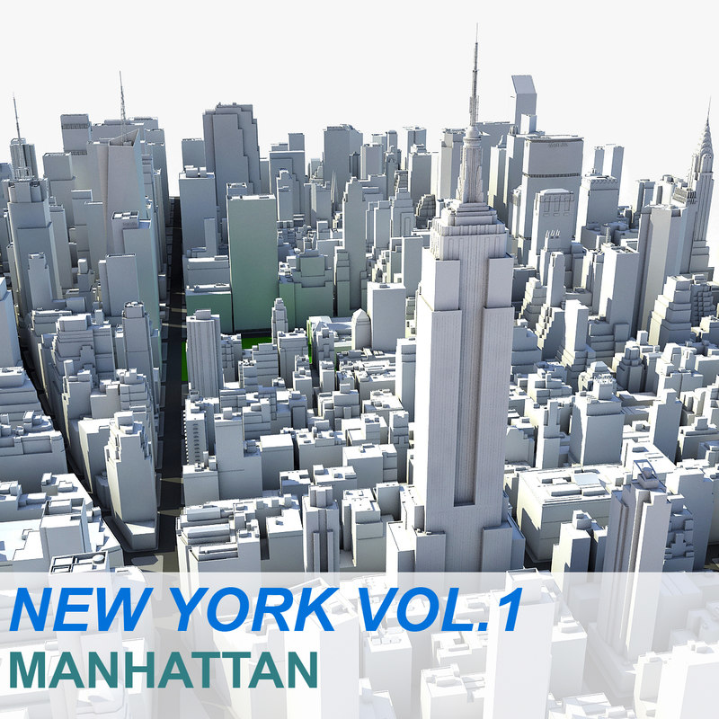 New york manhattan vol c4d for New york models