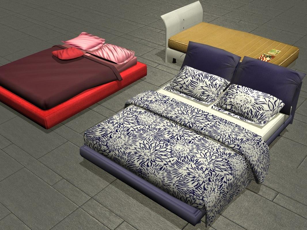 3x  Bed set