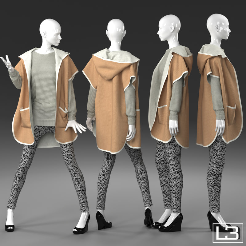 3d Model Of Woman Mannequin