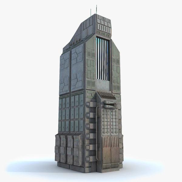 Sci fi Building 10 Futuristic Modern 3D Models