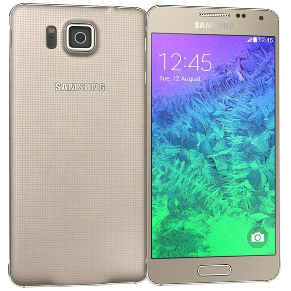 Samsung Galaxy Alpha Frosted Gold 3D Models