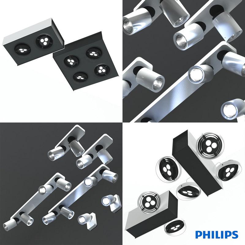 plafonnier philips 3d model