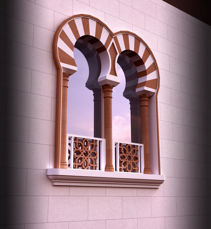 Islamic window 3d model for Window design model