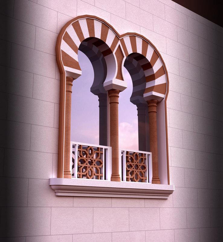 Islamic window 3d model for Window design model