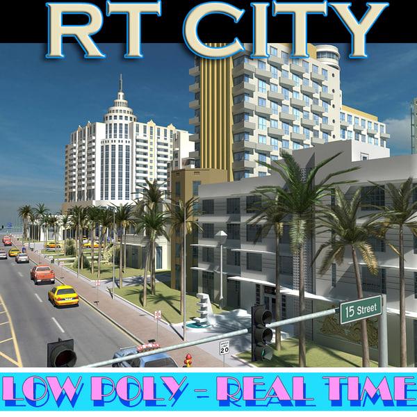 MIAMI city part01 3D Models