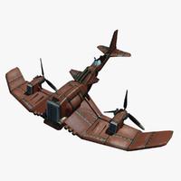 cartoon aircraft 3D models
