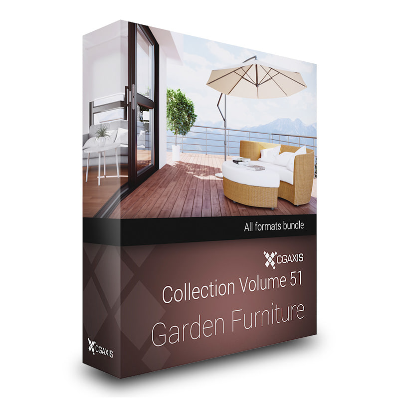 CGAxis Models Volume 51 Garden Furniture