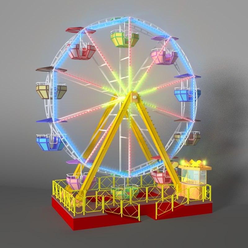 Wheel 3d Model 3d Model Ferris Wheel