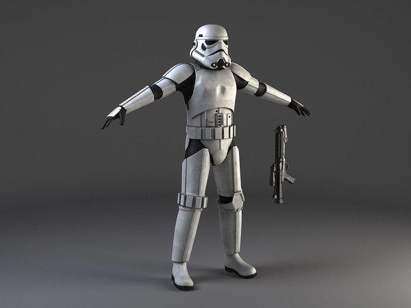 Star Wars Storm Trooper Rigged 3D Models