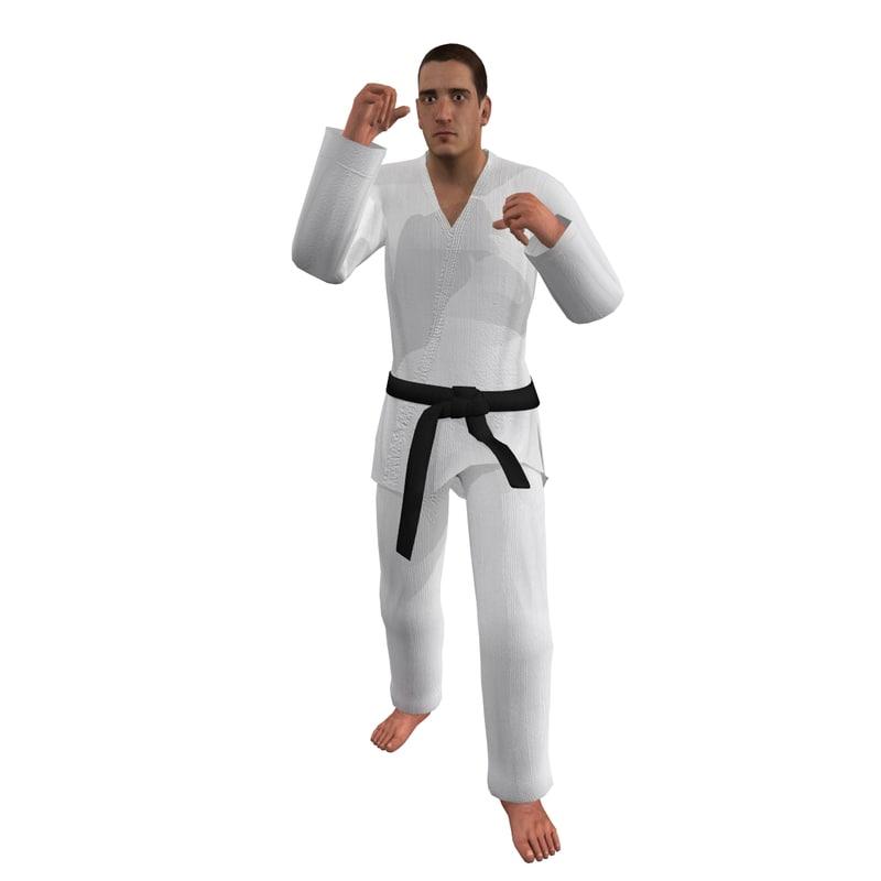 Martial Artist 3 Rigged