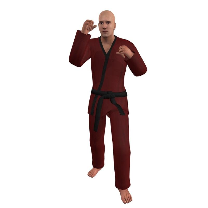 Martial Artist 5 Rigged