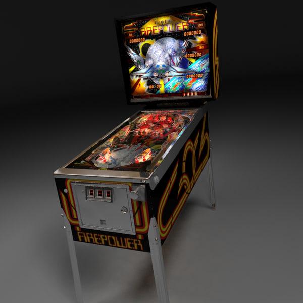 Real3D Pinball machine 3D Models