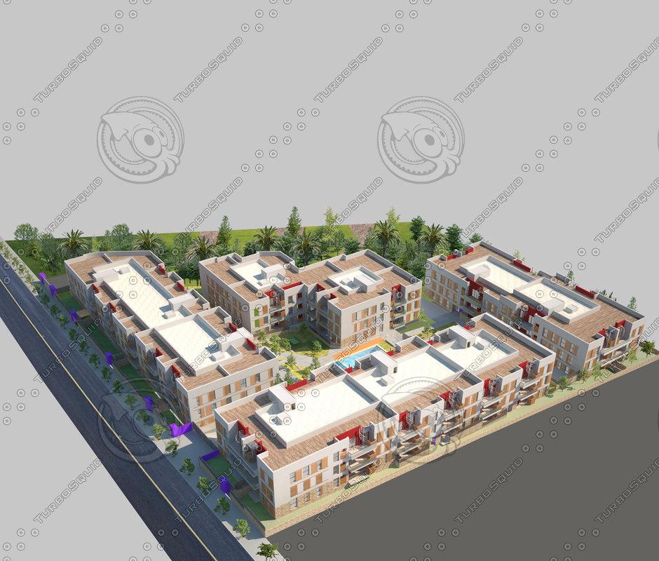 Apartment block and pool Heisenberg 1.jpg