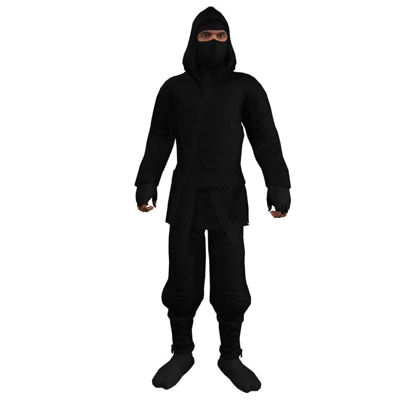 Ninja 1 Rigged