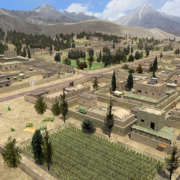 Afghan Farmland St02 3D Models