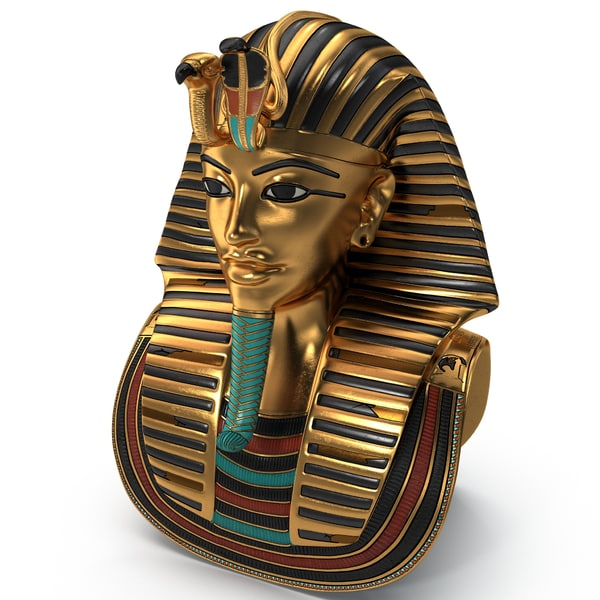 Gold Death Mask Of Tutankhamun 3D Models