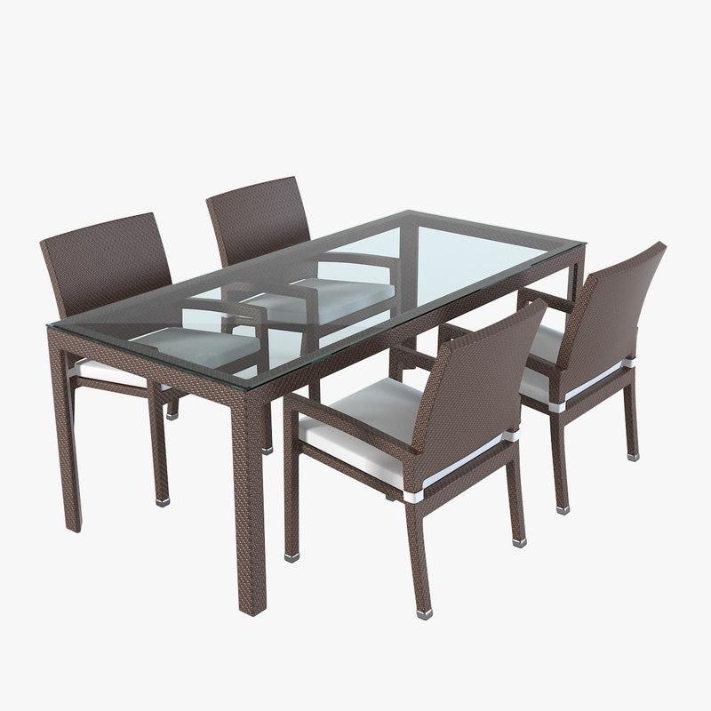 a Arkimueble Rattan Wicker Chair Rattan Table outdoor hotel chair modern glass 0001.jpg