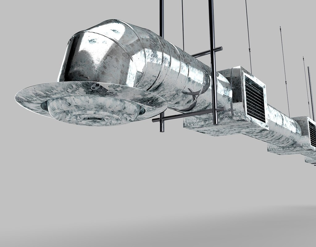 #51595D Industrial Air Duct Ventilation 3d Model Highly Rated 10079 Air Condition Ducting wallpapers with 1280x1000 px on helpvideos.info - Air Conditioners, Air Coolers and more