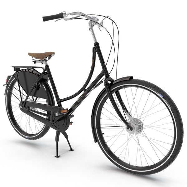 Azor European City Bicycle 3D Models