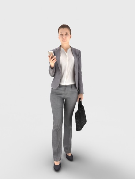 FUTURESCAN Ready Posed Businesswoman - 16 3D Models