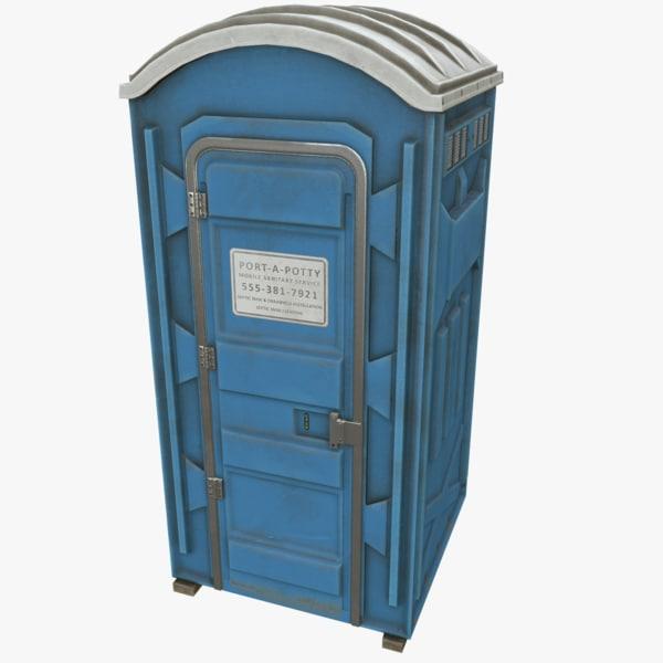 Portable Toilet 3D Models
