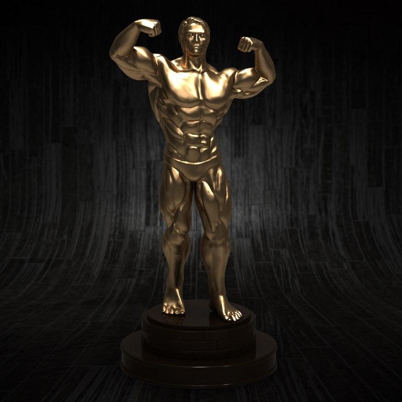 Bodybuilder Sculpture