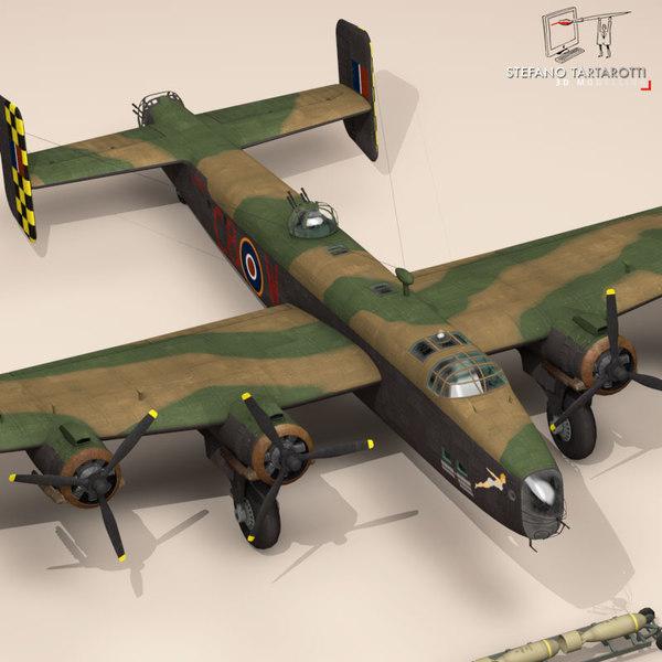 Handley page halifax MK3 RAF 3D Models
