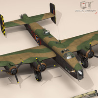 Handley Page Halifax 3D models