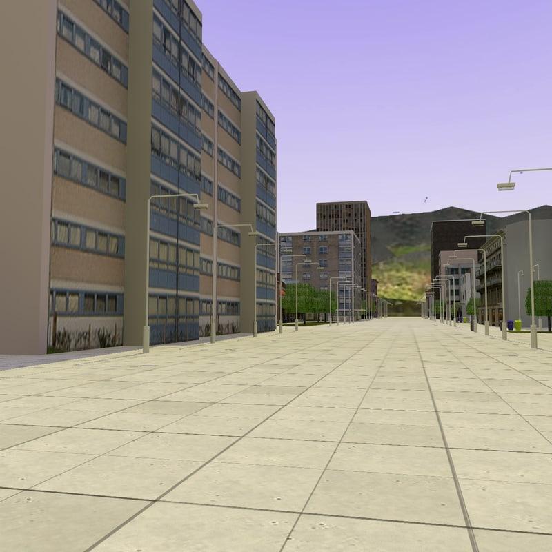 LOWPOLY PEDESTRIAN STREET 1.jpg