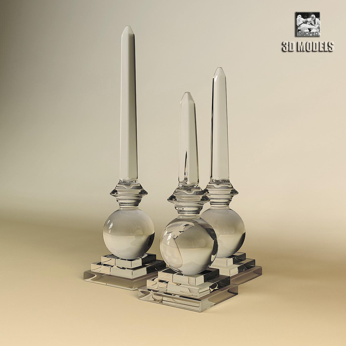 3d model obelisk tribout glass