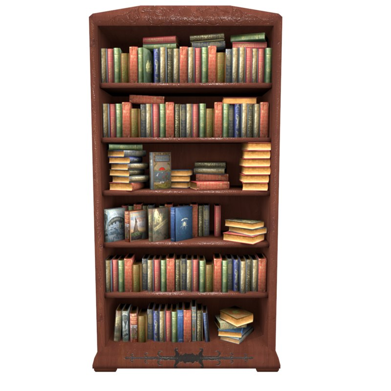 Very Impressive portraiture of Bookcase With Books Low Poly with #A0792B color and 1200x1200 pixels