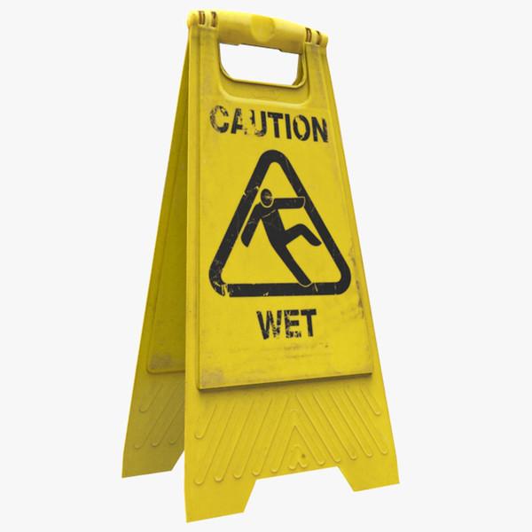 Caution sign 3D Models