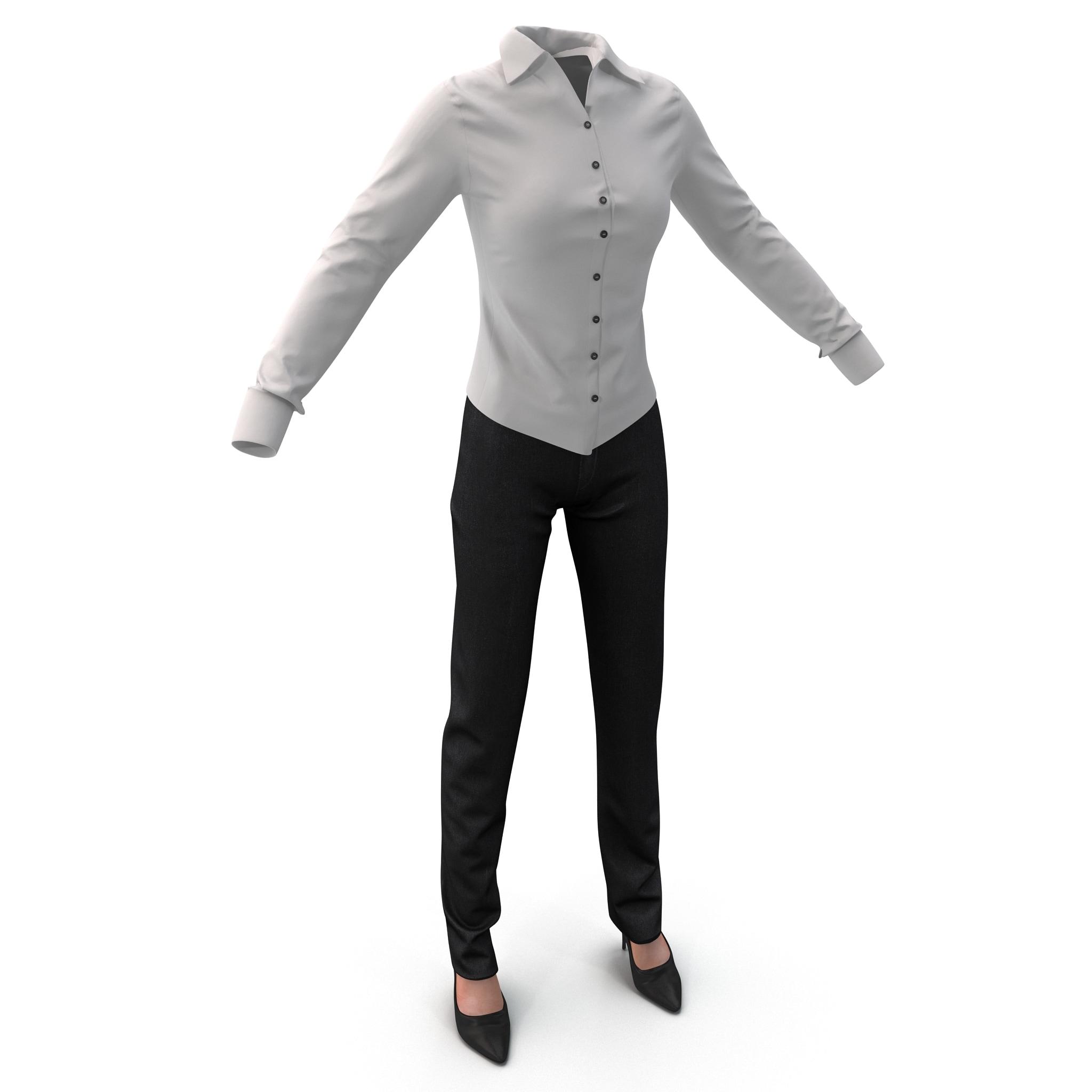 Womens Shirt and Slacks