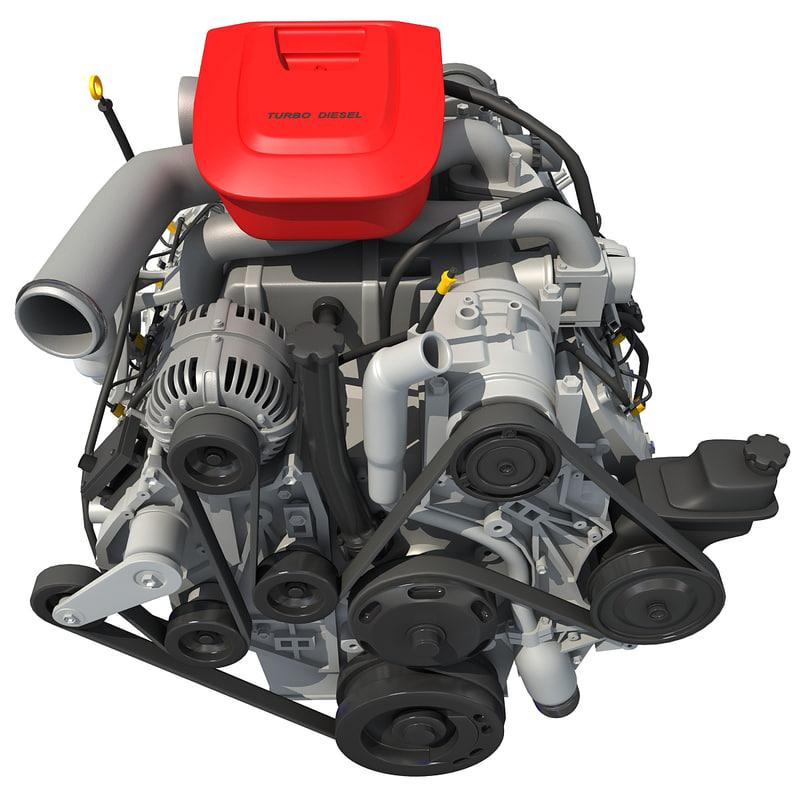 Model Car With Engine: 3d Model Car Engine Modeled