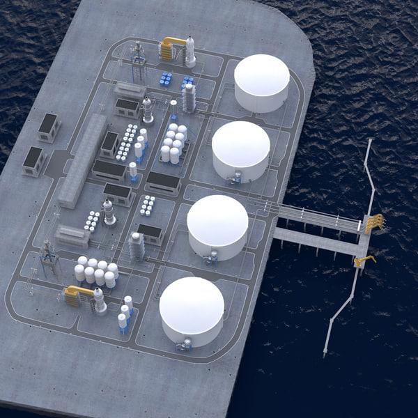LNG Terminal 3D Models