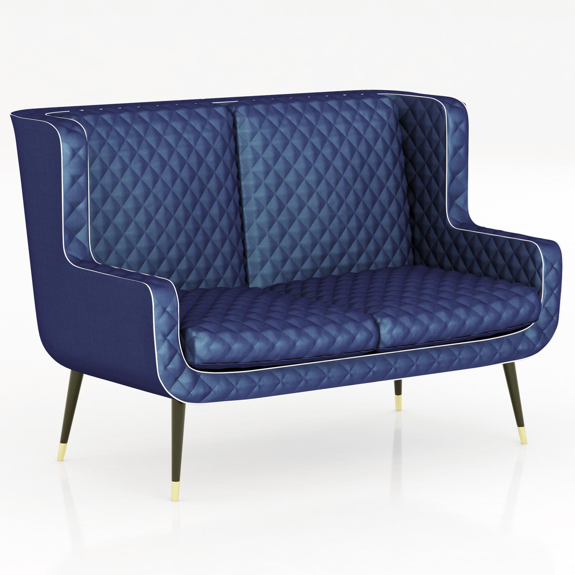 baxter dolly sofa 3d model. Black Bedroom Furniture Sets. Home Design Ideas