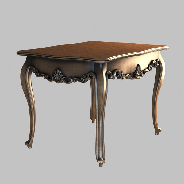 Table Decorated 5 3D Models